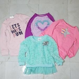 Toddler Girls Long Sleeve Shirt Bundle 2T